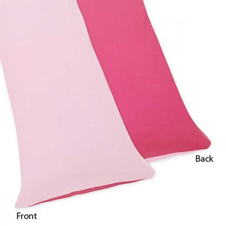 Flower Pink And Green Body Pillow Cover