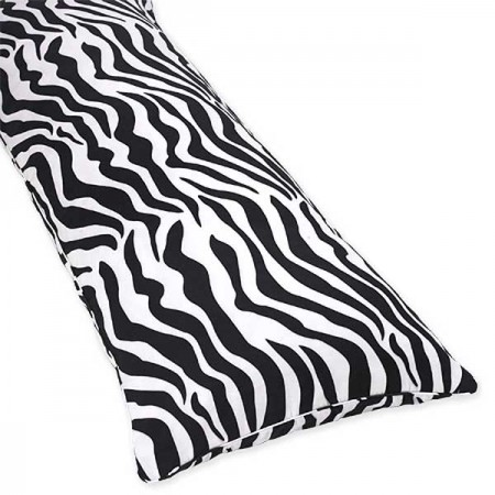 Blue Zebra Body Pillow Cover