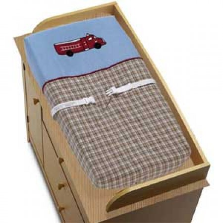 Frankies Firetruck Changing Pad Cover