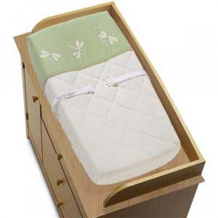 Sage Green Dragonfly Dreams Changing Pad Cover
