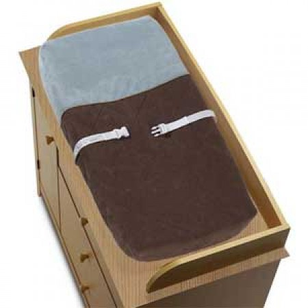 Soho Blue and Brown Changing Pad Cover
