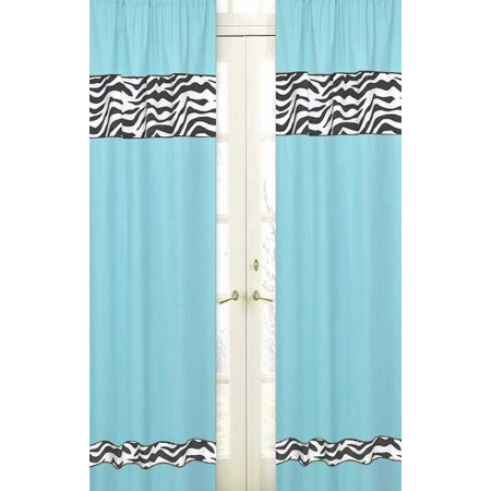 Blue Zebra Window Panels
