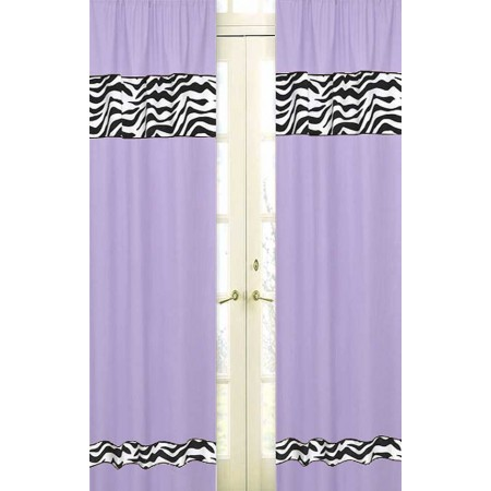 Purple Zebra Window Panels
