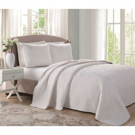 Laura Ashley Bedspread - Ecru - King Size