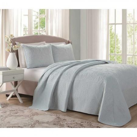 Laura Ashley Bedspread - Sky Blue - King Size