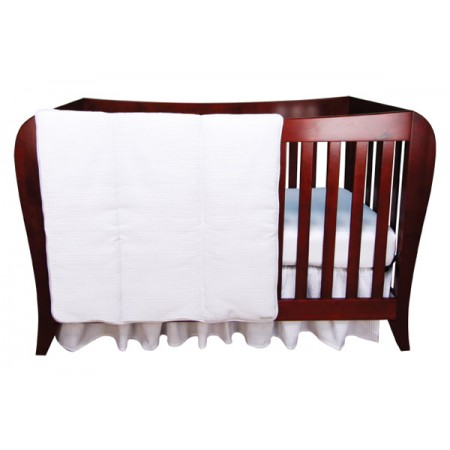 White Pique - 3 Piece Crib Set