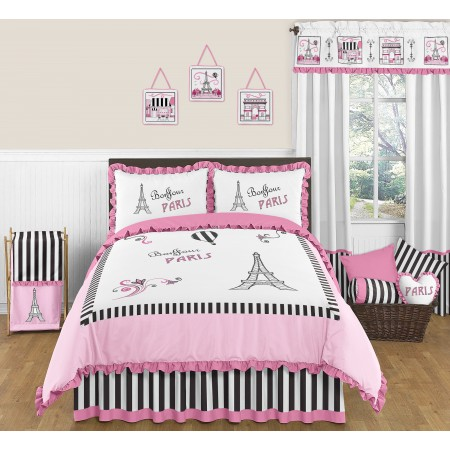 Paris Comforter Set - 3 Piece Full/Queen Size By Sweet Jojo Designs