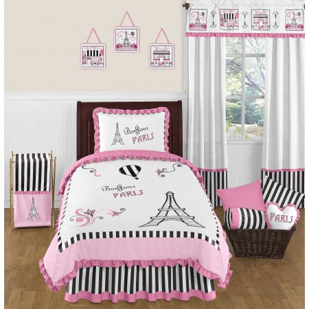 Paris Bedding Set - 4 Piece Twin Size By Sweet Jojo Designs