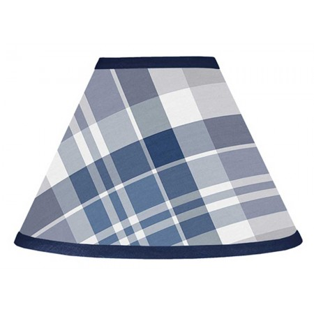 Plaid Navy Blue and Gray Lamp Shade
