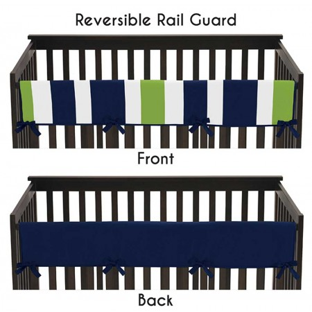 Navy & Lime Stripe Collection Long Rail Guard Cover