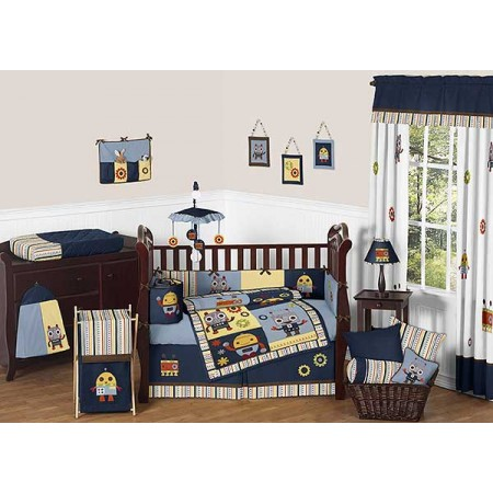 Robot Crib Bedding Set by Sweet Jojo Designs - 9 piece