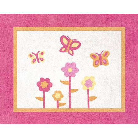 Butterfly Pink & Orange Floor Rug