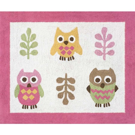 Happy Owl Floor Rug