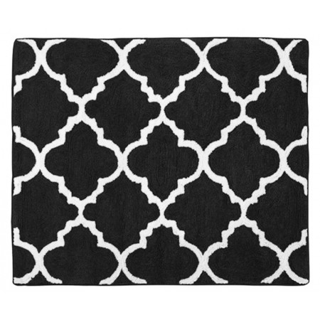 Black & White Trellis  Floor Rug
