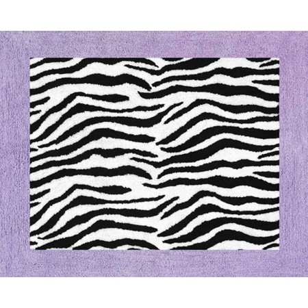 Purple Zebra Floor Rug