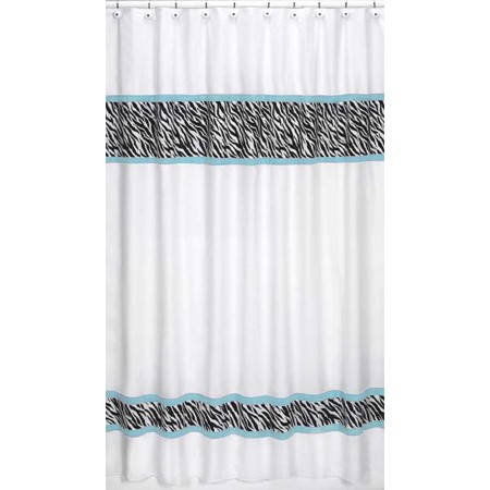 Blue Zebra Shower Curtain