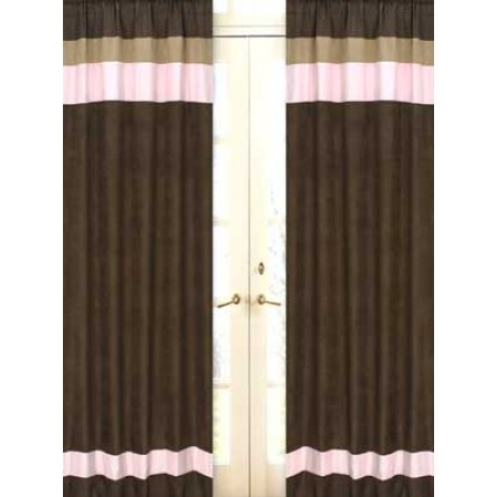 Soho Pink and Brown Window Panels