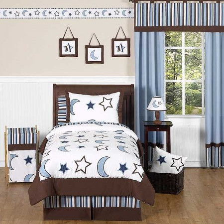 Starry Night Bedding Set - 4 Piece Twin Size by Sweet Jojo Designs