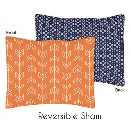 Arrow Orange & Navy Pillow Sham