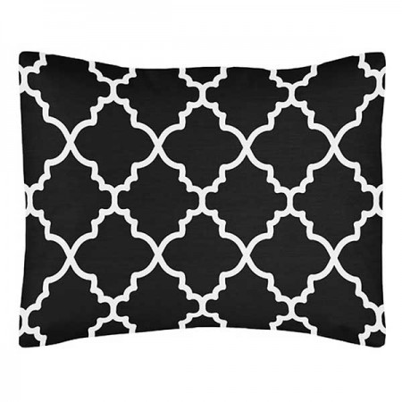 Black & White Trellis Pillow Sham