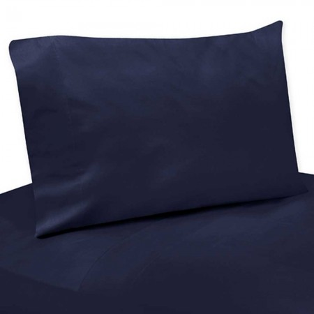 Arrow Orange & Navy Sheet Set - Solid Navy Blue