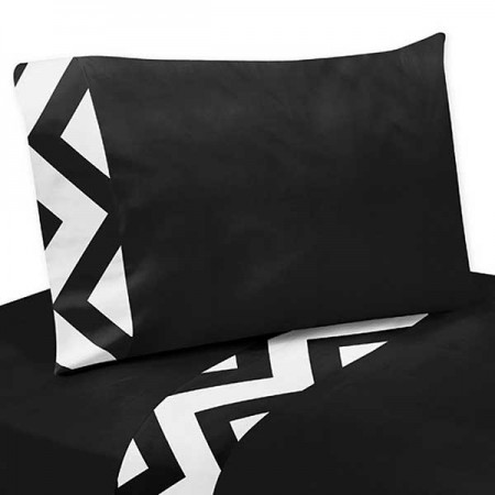 Black & White Chevron Print Sheet Set