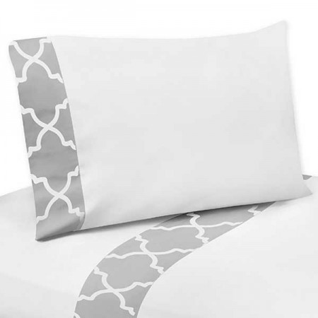 Gray & White Trellis Sheet Set