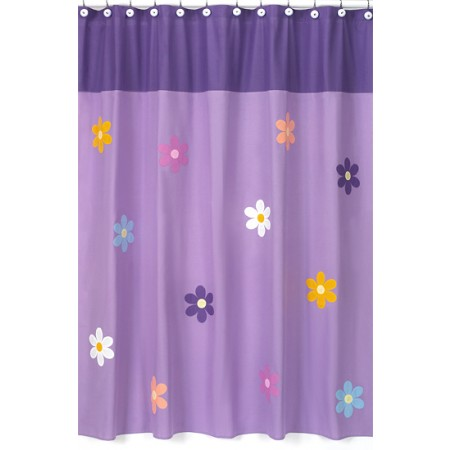 Danielles Daisies Pink Shower Curtain