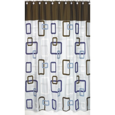 Geo Blue Shower Curtain