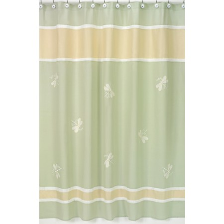 Sage Green Dragonfly Dreams Shower Curtain