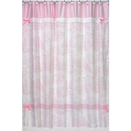 Pink French Toile Shower Curtain
