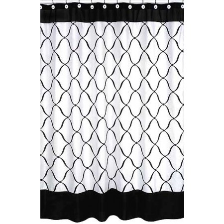 Princess Black, White and Pink Shower Curtain