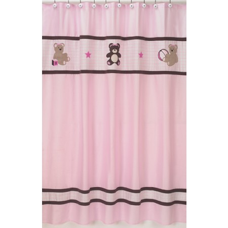 Teddy Bear Pink Shower Curtain