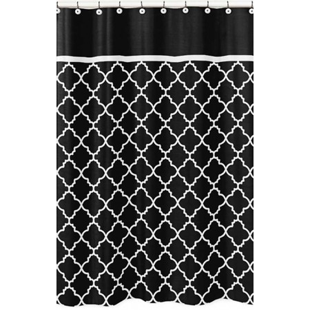 Black & White Trellis Shower Curtain