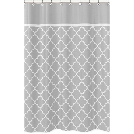 Gray & White Trellis Shower Curtain