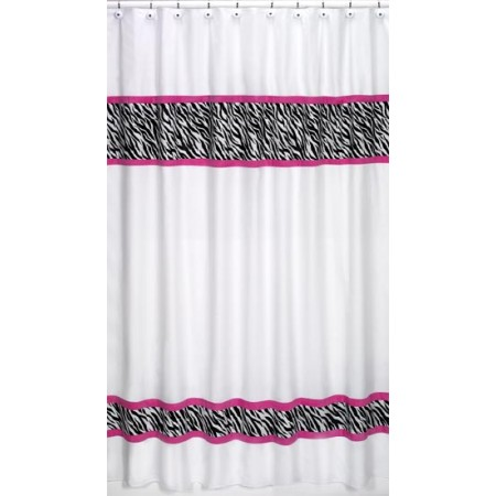 Hot Pink Zebra Shower Curtain*