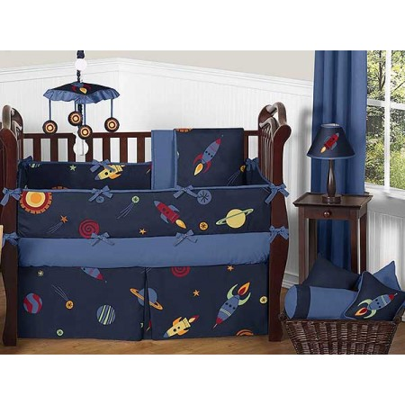 Space Galaxy Crib Bedding Set by Sweet Jojo Designs - 9 piece