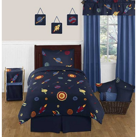 Space Galaxy Bedding Set - 4 Piece Twin Size By Sweet Jojo Designs