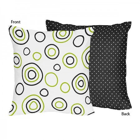 Spirodot Lime Accent Pillow