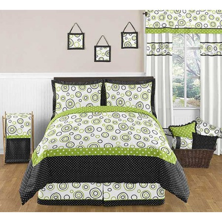 Spirodot Lime Comforter Set - 3 Piece Full/Queen Size by Sweet Jojo Designs