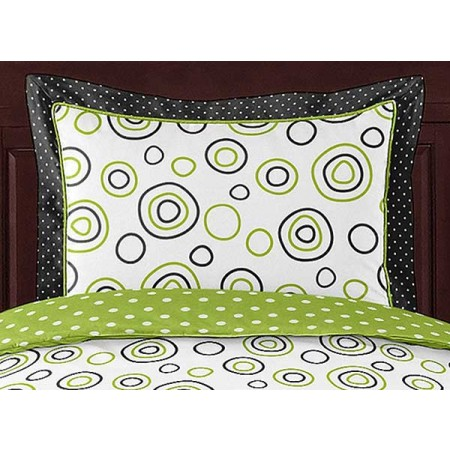 Spirodot Lime Pillow Sham