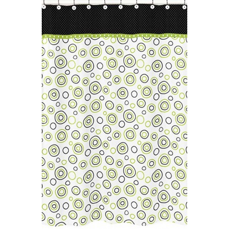 Spirodot Lime Shower Curtain