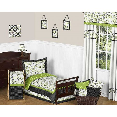 Spirodot Lime Toddler Bed Set by Sweet Jojo Designs