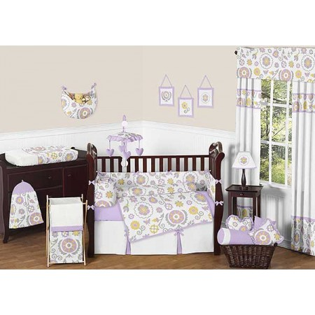 Suzanna Crib Bedding Set by Sweet Jojo Designs - 9 piece