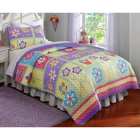 Sweet Helena Girls Quilt and Sham Set - Twin Size