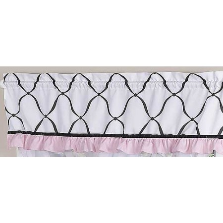 Princess Black, White and Pink Valance