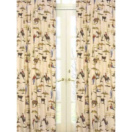 Wild West Cowboy Western Window Panels (Cowboy Print)