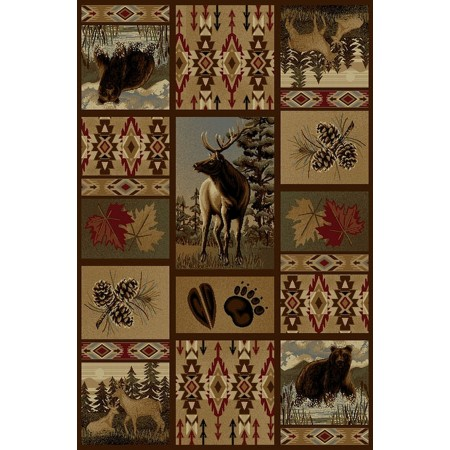 WILDERNESS-760 Moose Design Area Rug - Wilderness Collection