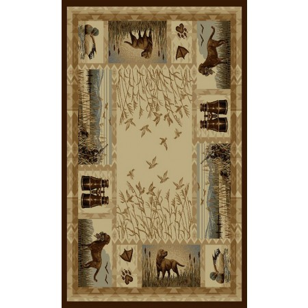 WILDERNESS-764 Duck Hunting & Dogs Design Area Rug - Wilderness Collection