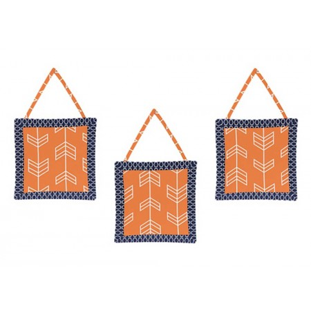 Arrow Orange & Navy Wall Hanging